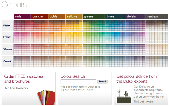 DULUX, Colour Charts, Color Charts - Waterproofing Africa, Visit http://www.dulux.co.za/colours/index.jsp
